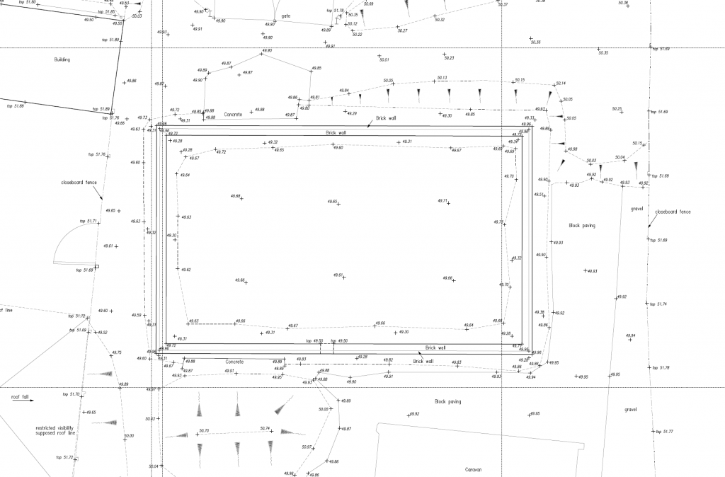 Topographical and Land survey plan